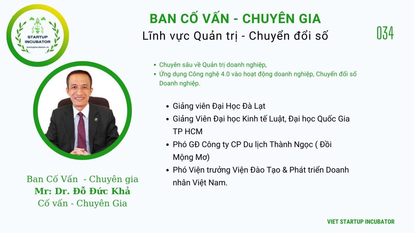 Chuyên gia, Cố vấn Đỗ Đức Khả - Cố vấn Khởi nghiệp Việt Nam