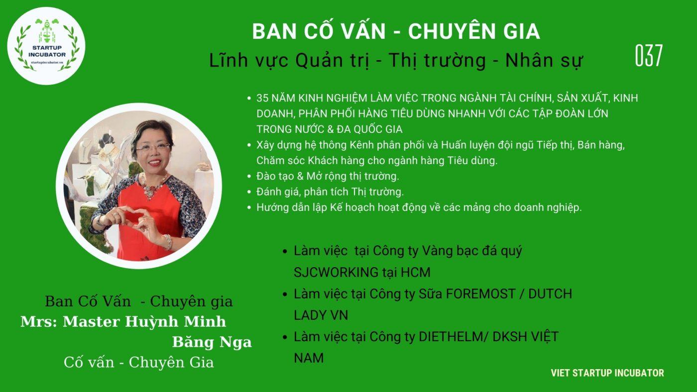 Chuyên gia, Cố vấn Huỳnh MInh Băng Nga- Cố vấn Khởi nghiệp Việt Nam