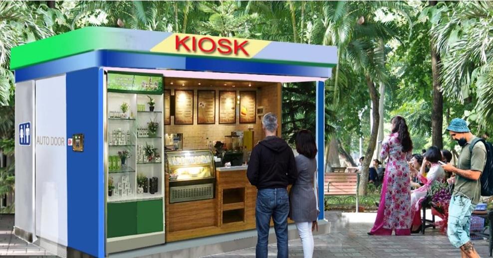 dự án oraido cố vấn - kiosk đa năng - nhà wc thông minh