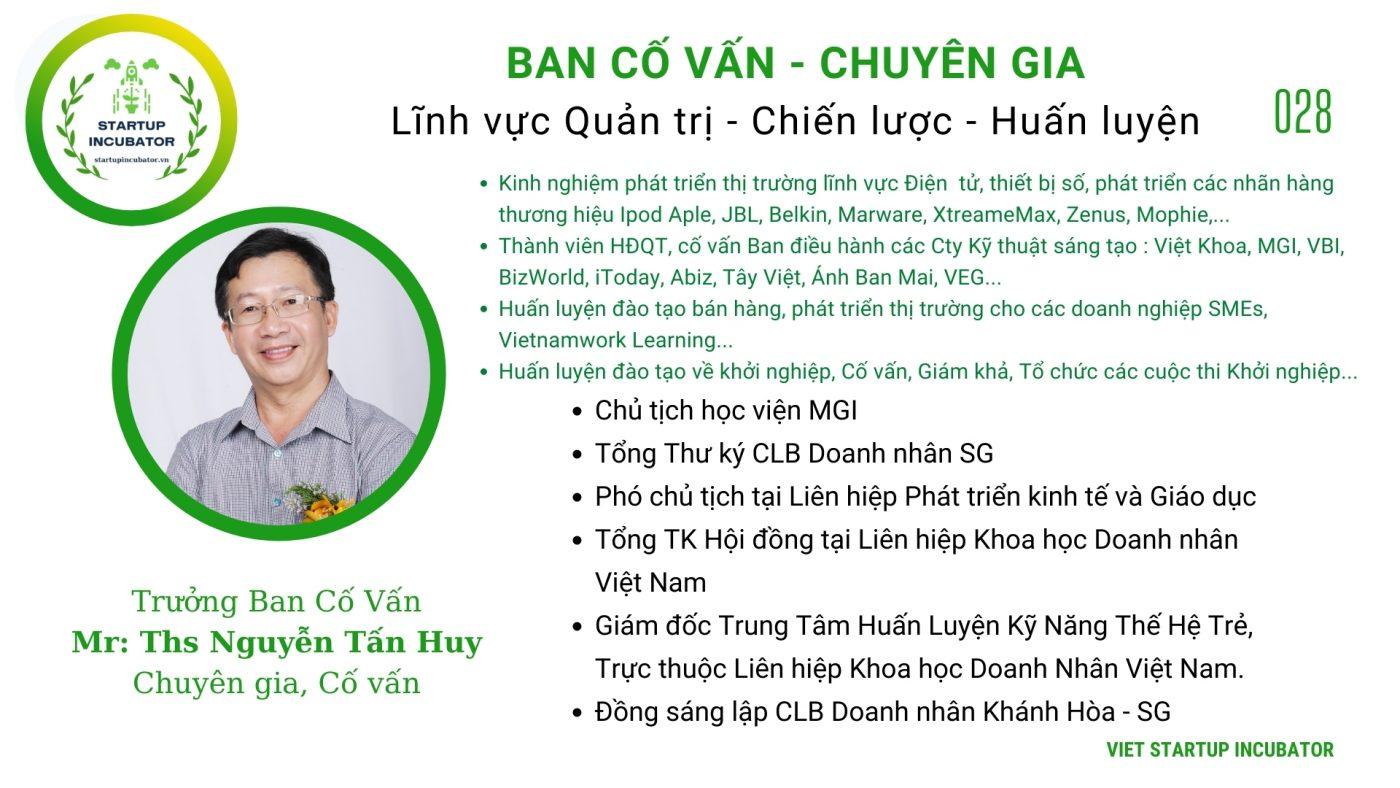 Chuyên gia, Cố vấn Nguyễn Tấn Huy - Cố vấn Khởi nghiệp Việt Nam