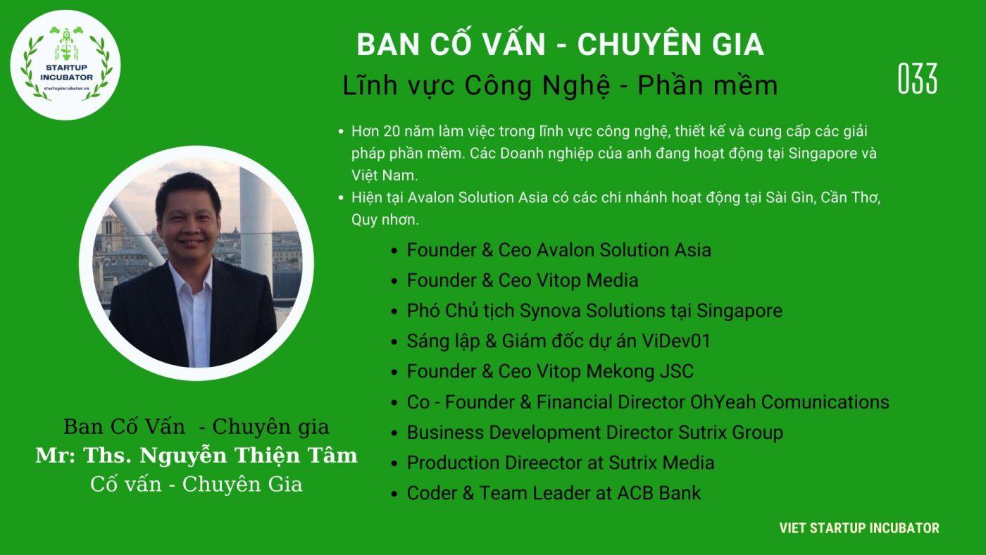 Chuyên gia, Cố vấn Nguyễn Thiện Tâm - Cố vấn Khởi nghiệp Việt Nam