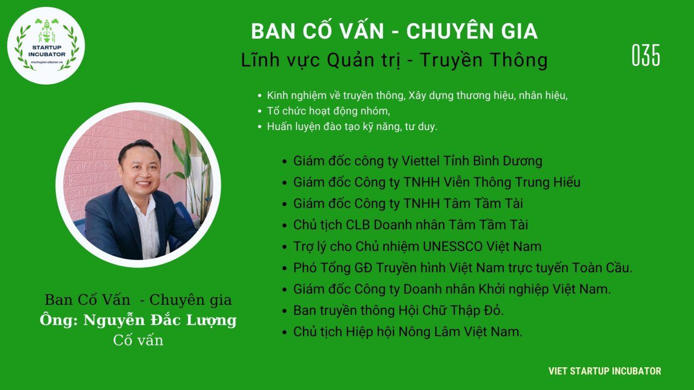 Chuyên gia, Cố vấn Nguyễn Đắc Lượng - Cố vấn Khởi nghiệp Việt Nam