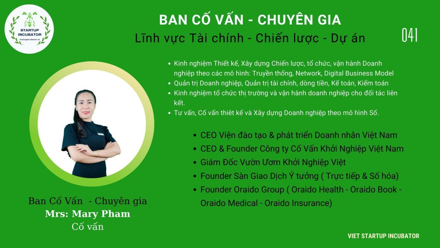 Chuyên gia, Cố vấn - Cố vấn Khởi nghiệp Việt Nam